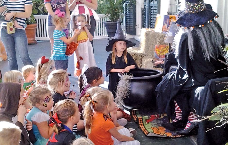 Children at Halloween Event